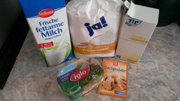 Grundrezept Milch Brot ( hier mit Kräutern ) ohne Hefe ! - Rezept - Bild Nr. 890
