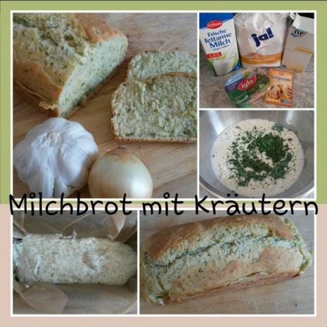 Grundrezept Milch Brot ( hier mit Kräutern ) ohne Hefe ! - Rezept - Bild Nr. 894