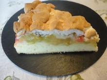 Rhabarber  Pudding Torte / Kuchen - Rezept - Bild Nr. 945