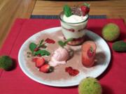 Erdbeerdaiquiri, Erdbeerjoghurt Eis, Quark-Tiramisu mit kandierten Erdbeeren - Rezept - Bild Nr. 1018