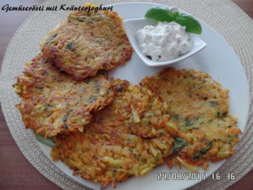 Gemüserösti mit Kräuterjoghurt - Rezept - Bild Nr. 933