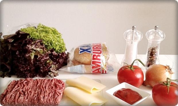 XXL Burger  mit Lollo Rosso Salat und....nach Art des Hauses - Rezept - Bild Nr. 973