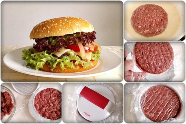 XXL Burger  mit Lollo Rosso Salat und....nach Art des Hauses - Rezept - Bild Nr. 983