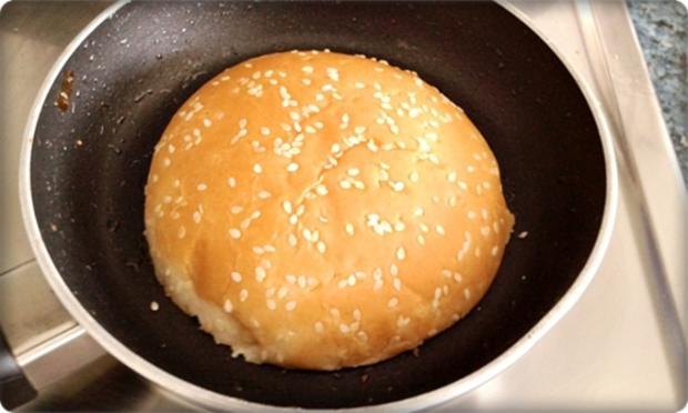 XXL Burger  mit Lollo Rosso Salat und....nach Art des Hauses - Rezept - Bild Nr. 984