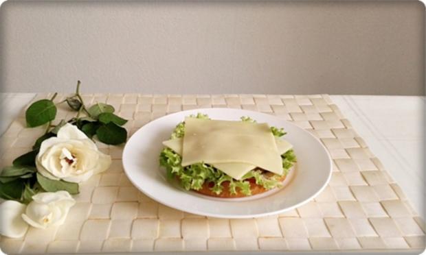 XXL Burger  mit Lollo Rosso Salat und....nach Art des Hauses - Rezept - Bild Nr. 990
