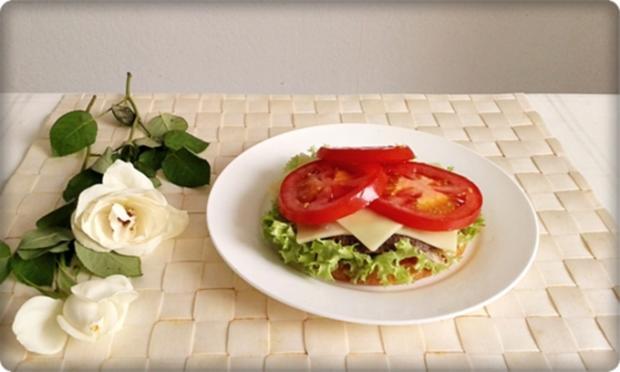 XXL Burger  mit Lollo Rosso Salat und....nach Art des Hauses - Rezept - Bild Nr. 991