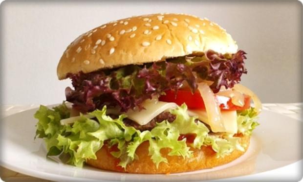 XXL Burger  mit Lollo Rosso Salat und....nach Art des Hauses - Rezept - Bild Nr. 995