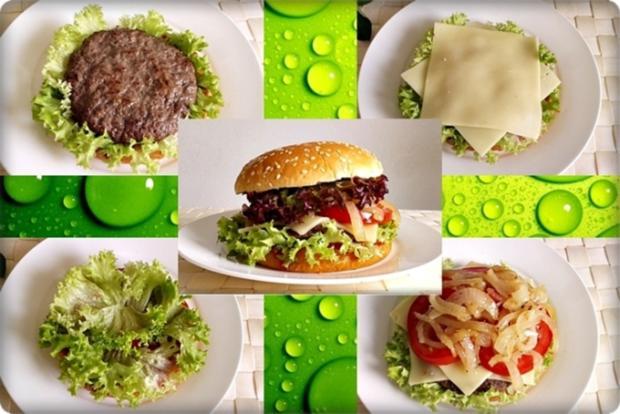 XXL Burger  mit Lollo Rosso Salat und....nach Art des Hauses - Rezept - Bild Nr. 997