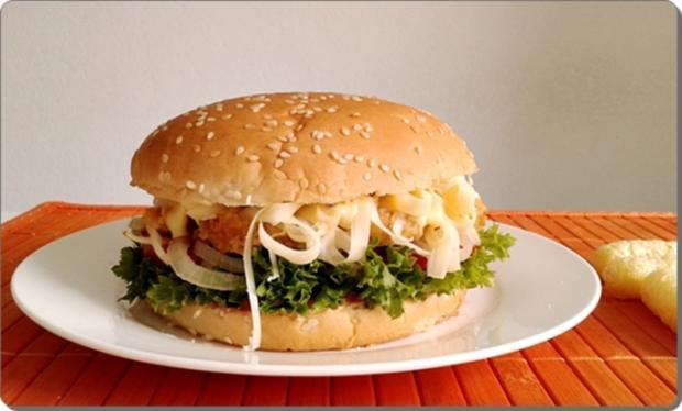 Chickenburger selber machen - Rezept - Bild Nr. 1018