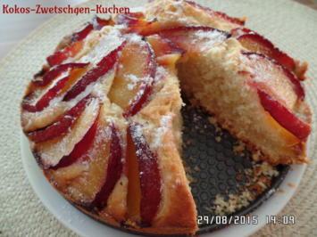 Kokos-Zwetschgen-Kuchen - Rezept - Bild Nr. 1058