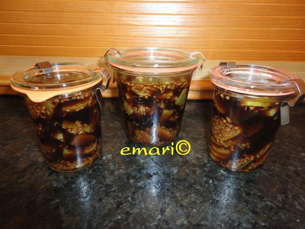 eingelegte Balsamico Gurken mit geröstetem Sesam - Rezept - Bild Nr. 1067