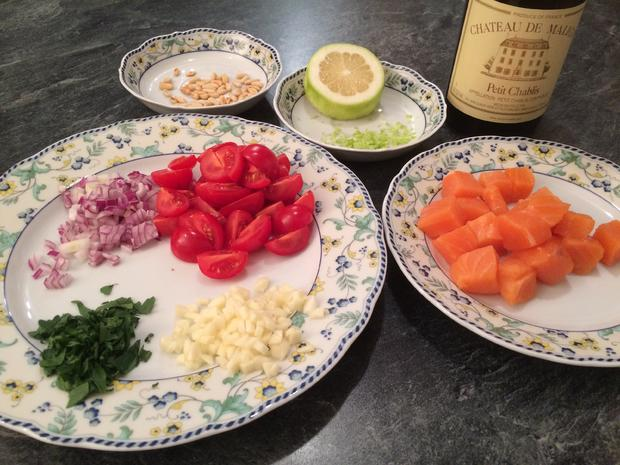 Schnelle Pasta mit Lachs - Rezept - Bild Nr. 1069