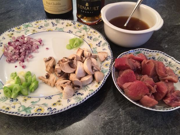 Geschnetzeltes Schweinefilet Zürcher Art mit Käserösti - Rezept - Bild Nr. 1070