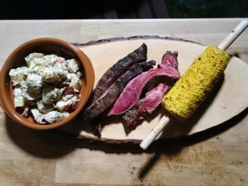 Zweierlei Variationen vom US-Beef-Flanksteak zu Country-Kartoffelsalat und gegrilltem Mais - Rezept - Bild Nr. 1080