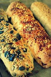 Brot: Drei mediterrane Baguettes mit dem Thermomix - Rezept - Bild Nr. 1069