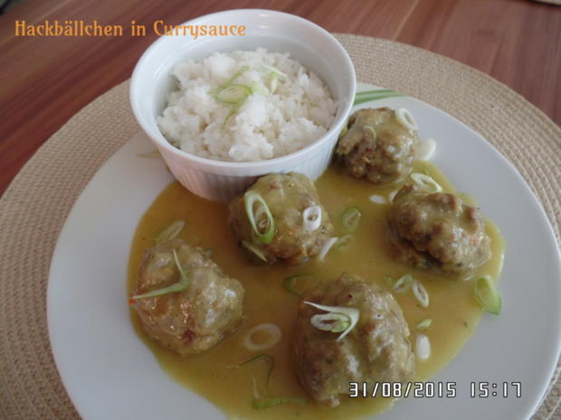 Hackbällchen in Currysauce - Rezept - Bild Nr. 1069