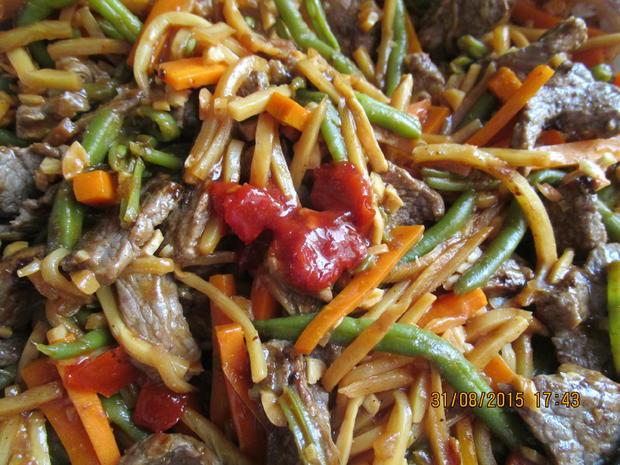 Rindfleisch asiatische Art mit Basmatireis - Rezept - Bild Nr. 1091
