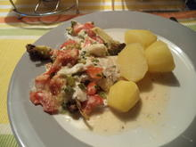 Fisch-/Hähnchenbordelaise - Rezept - Bild Nr. 1077