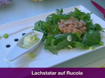 Lachstatar auf Rucolasalat in Senfsoße (Oliver Mösch) - Rezept - Bild Nr. 1080