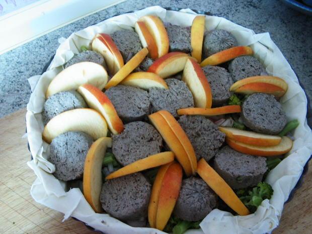 Leberwurst-Apfel-Quiche - Rezept - Bild Nr. 1097