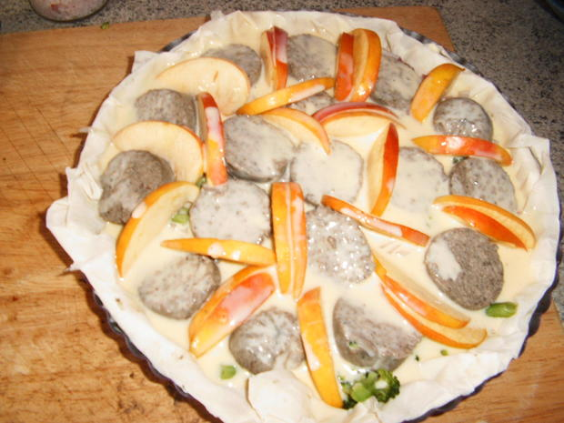 Leberwurst-Apfel-Quiche - Rezept - Bild Nr. 1099