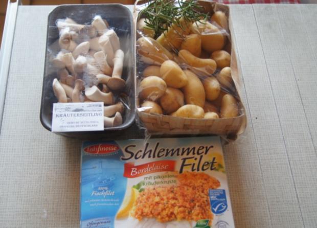 Schlemmer-Filet mit Kräuter-Seitlingen und Rosmarin-Curry-Drillingen - Rezept - Bild Nr. 1099