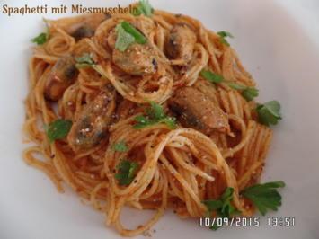 Spaghetti(Capellini)mit Miesmuscheln - Rezept - Bild Nr. 1217