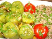 Gefüllte Paprika und Tomaten - Rezept