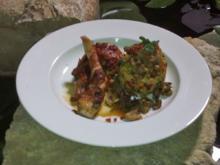Kaninchen im Parmaschinkenmantel mit CousCous-Pilz-Salat - Rezept - Bild Nr. 1361