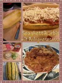 Rezept: Spaghetti Kürbis mit Bologneser Sauce