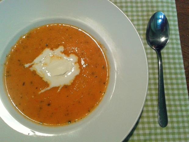 Tomatensuppe Brigitte tomatensuppe mit tomaten und porree rezept mit bild kochbar de