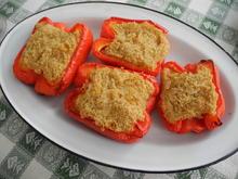 Rote Paprika mit Quinoa-Zwiebel-Füllung - Rezept - Bild Nr. 1417