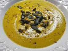 Butternut-Suppe mit gelber Bette - Rezept - Bild Nr. 1417