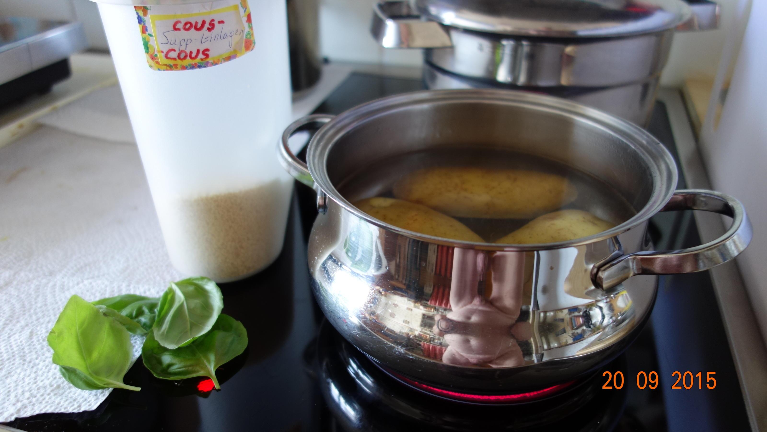 Beilage: Kartoffeln mit Cous cous-Kruste und Basilikum - Rezept Gesendet von Waltl