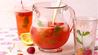 Rezept: LowCarb Beeren Minz Limonade