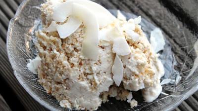 Rezept: LowCarb getoastetes Kokoseis ohne Eismaschine