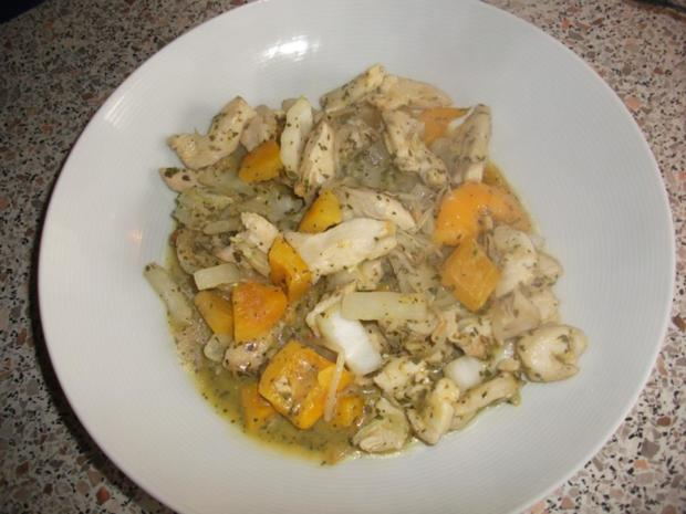 Geschnetzeltes mit Kokos-Mango-Soße  Low Carb - Rezept - Bild Nr. 1437