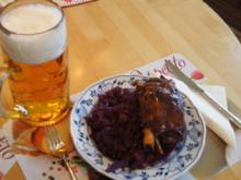 Grillhaxe mit Schwarte und Gourmet-Rotkohl - Rezept - Bild Nr. 1478
