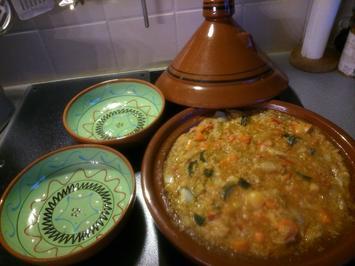 Gemüse-Tajine mit Couscous und Linsen - Rezept - Bild Nr. 1473