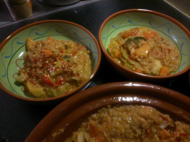 Gemüse-Tajine mit Couscous und Linsen - Rezept - Bild Nr. 1476