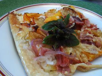 Rezept: Kürbis-Apfel-Flammkuchen