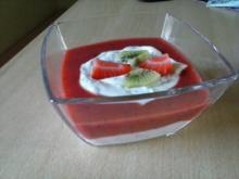Erdbeer-Kiwi-Dessert  - Rezept - Bild Nr. 1525