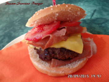 Sesam-Serrano-Burger - Rezept - Bild Nr. 1538