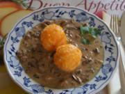 Möhren-Kartoffel-Knödel mit Waldpilzragout - Rezept - Bild Nr. 1550