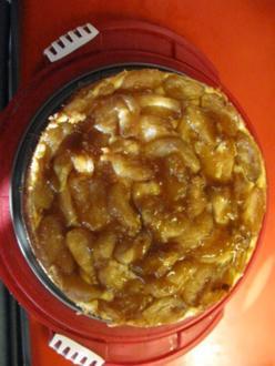Käsekuchen mit Apfel und Karamell - Rezept - Bild Nr. 1607