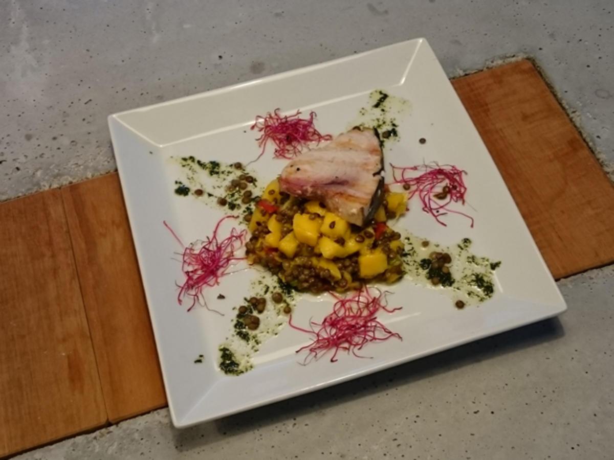 Schwertfisch, Linsen, Mango - Rezept Von Einsendungen Das perfekte Dinner