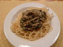Champignon-Sauce zu Spaghettis - Rezept - Bild Nr. 1656