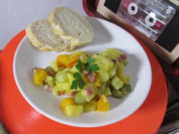 Rezept: KKGS – Kartoffel-Kürbis-Gurken-Speck Salat
