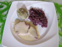 Rinderzunge an Rotweinsauce, Rotkraut und vogtländischen grünen Klößen - Rezept - Bild Nr. 1901