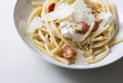 Pasta mit Tomaten, Ricotta & Grana Padano - Rezept - Bild Nr. 1970